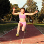 Bilateral long-jump practice ups takeoff leg performance