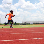 Lower extremity protheses can pose barriers to active play